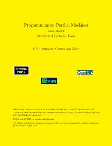 Programming on Parallel Machines
