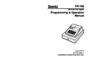 Programming & Operation Manual