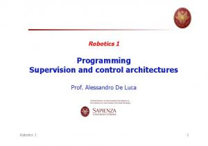 Programming Supervision and control architectures