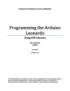 Programming the Arduino Leonardo