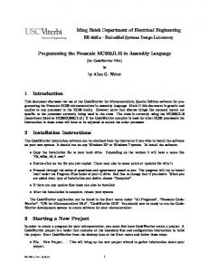 Programming the Freescale MC908JL16 in Assembly Language