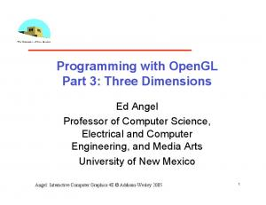 Programming with OpenGL Part 3: Three Dimensions