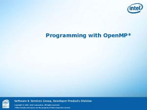 Programming with OpenMP*