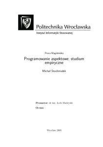Programowanie aspektowe: studium empiryczne