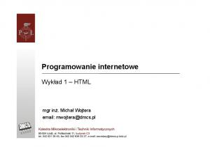 Programowanie internetowe