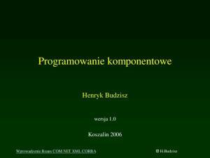 Programowanie komponentowe