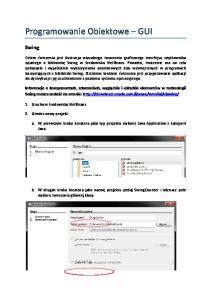Programowanie Obiektowe GUI