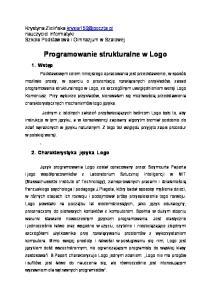 Programowanie strukturalne w Logo