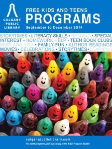 PROGRAMS September to December 2014