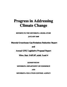 Progress in Addressing Climate Change