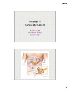 Progress in Pancreatic Cancer