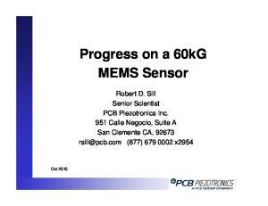 Progress on a 60kG MEMS Sensor