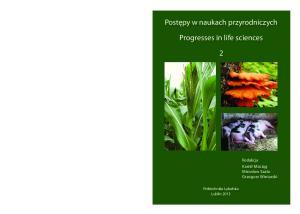 Progresses in life sciences