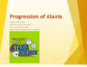 Progression of Ataxia