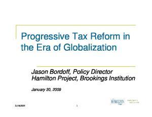 Progressive Tax Reform in the Era of Globalization