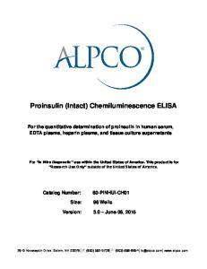 Proinsulin (Intact) Chemiluminescence ELISA