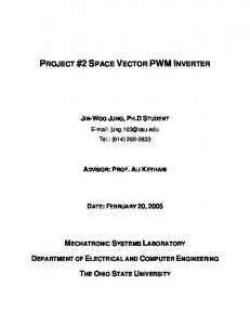 PROJECT #2 SPACE VECTOR PWM INVERTER
