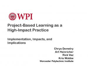 Project-Based Learning as a