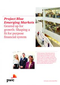 Project Blue Emerging Markets Geared up for growth: Shaping a fit for purpose financial system