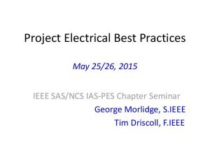 Project Electrical Best Practices