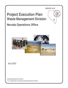 Project Execution Plan Waste Management Division