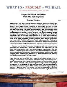 Project for Moral Perfection from The Autobiography