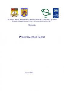 Project Inception Report