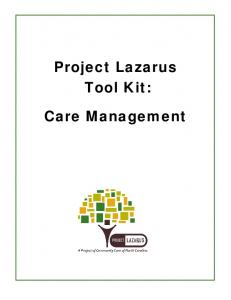 Project Lazarus Tool Kit: Care Management