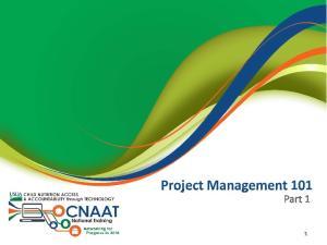 Project Management 101 Part 1