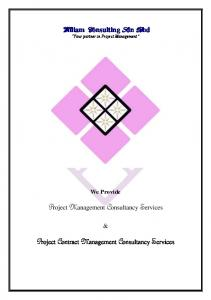 Project Management Consultancy Services. Project Contract Management Consultancy Services