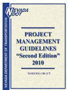 PROJECT MANAGEMENT GUIDELINES. Second Edition