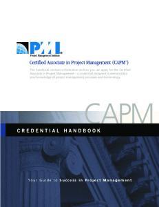 Project Management Institute Certification Program Mission