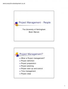 Project Management - People