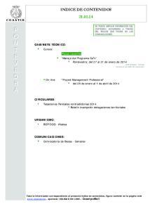 Project Management Profesional del 28 de enero al 1 de abril de 2014
