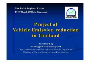 Project of Vehicle Emission reduction in Thailand