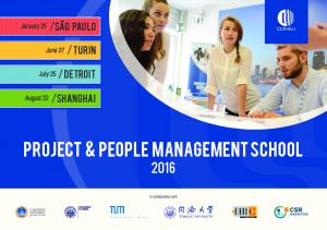 Project & People Management school