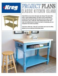 PROJECT PLANS CLASSIC KITCHEN ISLAND