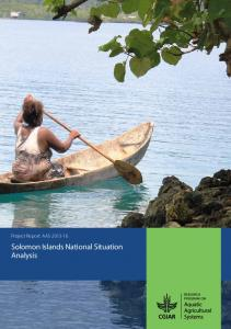Project Report: AAS Solomon Islands National Situation Analysis