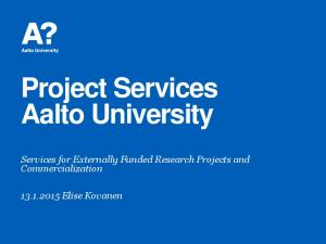 Project Services Aalto University