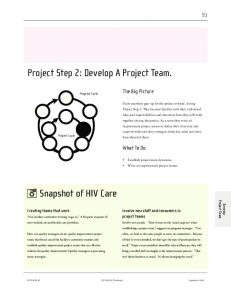 Project Step 2: Develop A Project Team