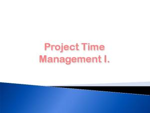 Project Time Management I