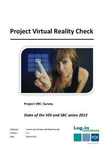 Project Virtual Reality Check