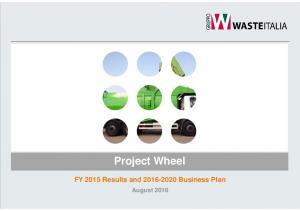 Project Wheel. FY 2015 Results and Business Plan. August 2016