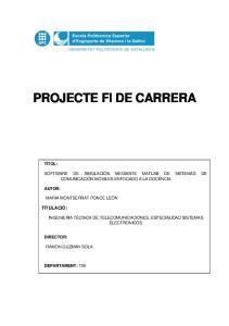 PROJECTE FI DE CARRERA