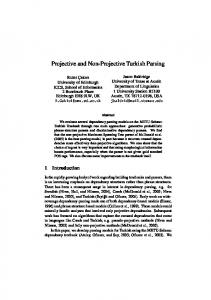 Projective and Non-Projective Turkish Parsing
