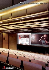 Projector ceiling lift systems