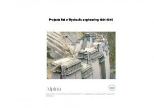 Projects list of Hydraulic engineering