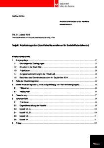 Projekt Arbeitsintegration (berufliche Massnahmen für Sozialhilfebeziehende)