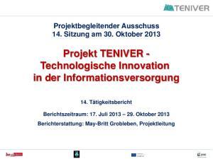 Projekt TENIVER - Technologische Innovation in der Informationsversorgung