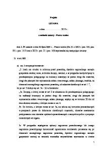 Projekt USTAWA. z dnia r. o zmianie ustawy - Prawo wodne